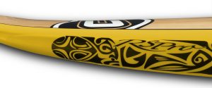 Tatau RSPro rail saver detail on a yellow board